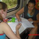 в поезде Москва-Брест
