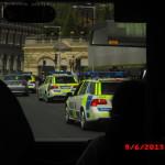 много полицейских было в городе
